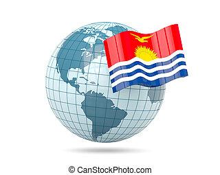 Globe with flag of kiribati