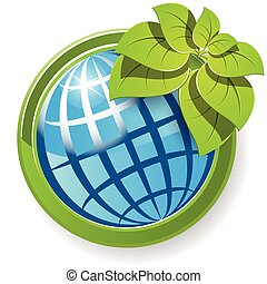 globe with flower