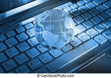 globe with high technology