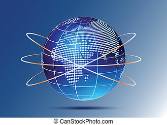Globe with orbits