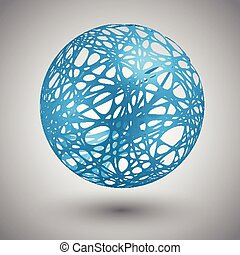 Globe with orbits, vector illustration
