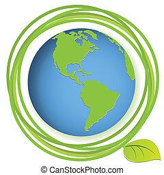 globe with plant
