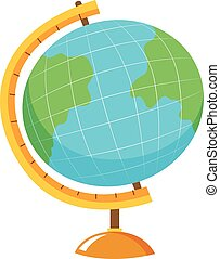 Globe with stand on white background