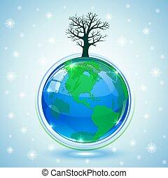 Globe with tree