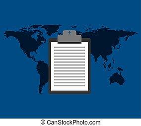 globe world delivery clipboard check list
