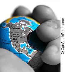 Globe - World in a Hand