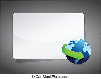 globe world map presentation board