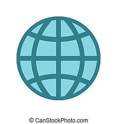 globe world on white background