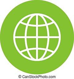 Globe world vector icon