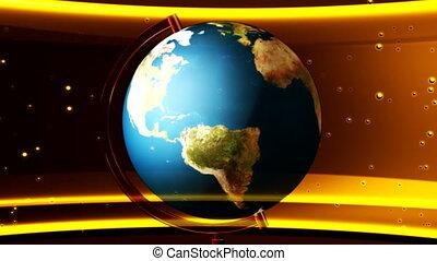 Globe Yellow Abstract Loop