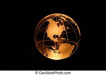 Globe yellow light