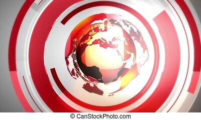 Globe_background_red - Virtual set studio for chroma footage...