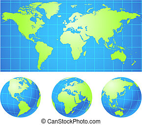 glober, världen kartlägger