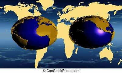 globes, carte, mondiale