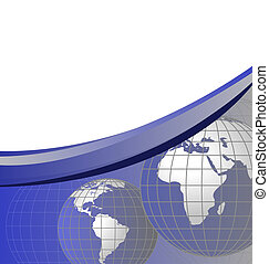 Globes - Abstract background with world globes and space for...