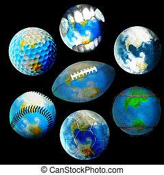 Globes - Football, Tennis, Golf, Maze, Vampire, Soccer and...