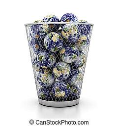 Globes in urn