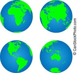 globes, la terre