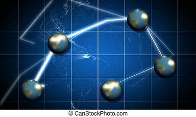 globes, lumière, lien, entre