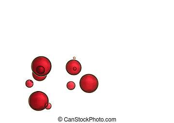globes, rouges