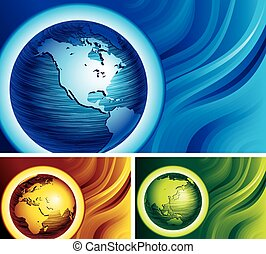 globes, trois