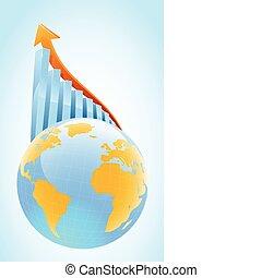 globl, groei, concept, zakelijk