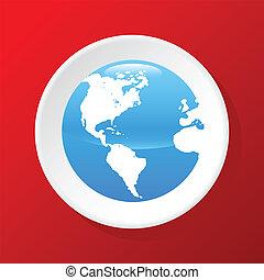 globo, 3d, icona