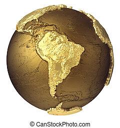globo, américa, ouro, sul