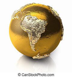 globo, américa, -, ouro, sul