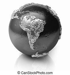 globo, américa, -, prata, sul