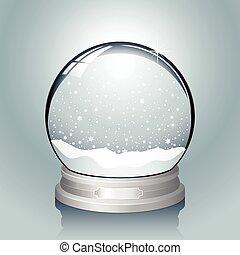 globo, argento, neve