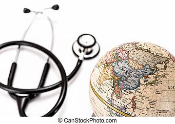 globo, (asia, ), e, stetoscopio