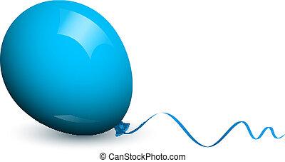 globo azul, vector, ilustración