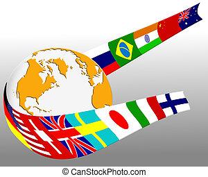 globo, bandeira