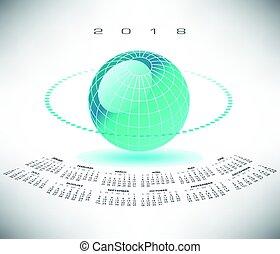 globo, bluegreen, 2018, calendário