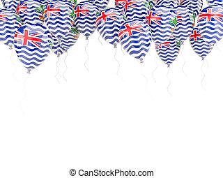 globo, británico, océano, bandera, indio, territorio, marco