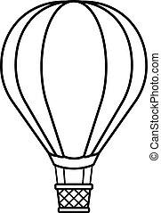 globo, carboncillo, caliente, caricatura, aire