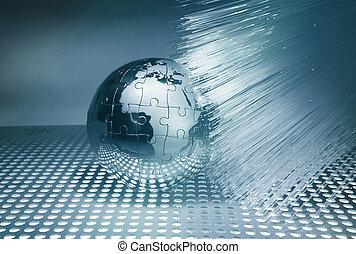 globo, con, alta tecnologia