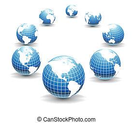 globo, de, el mundo