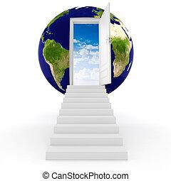 globo de la tierra, concepto, 3d