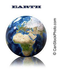globo de la tierra, mapa
