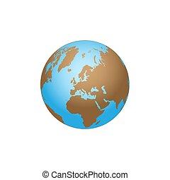 globo de la tierra, plano de fondo