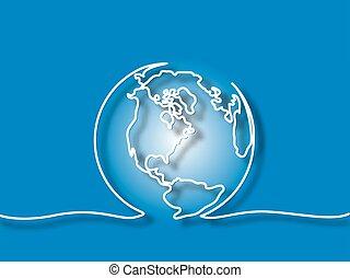 globo, de, la tierra