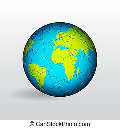 globo, de, tierra