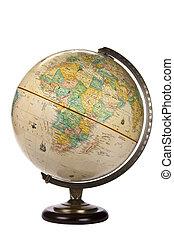 globo del mundo, -, aislado