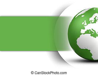 globo del mundo, diseño, concepto