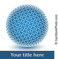globo, digital, vector.