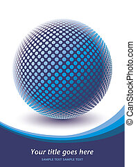 globo, digitale, colorito, design.