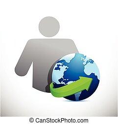 globo, disegno, avatar, illustrazione, icona