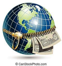 globo, dollaro